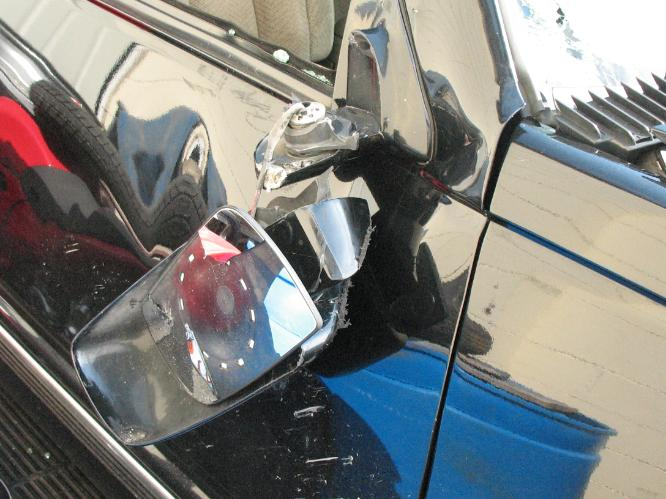 Mirror Damage From Traffic Accident