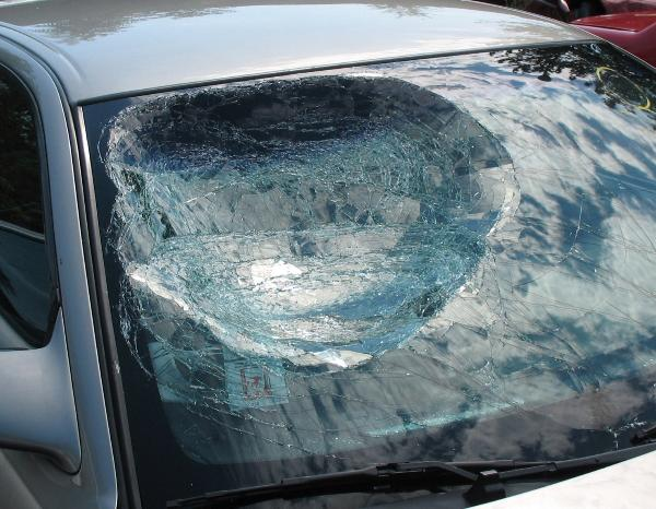 Windshield Damage From Traffic Crash