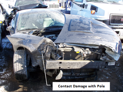 Ford Mustang Pole Accident