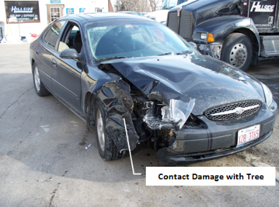 Ford Taurus Pole Accident