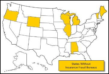 States Without Fraud Bureaus for Investigation